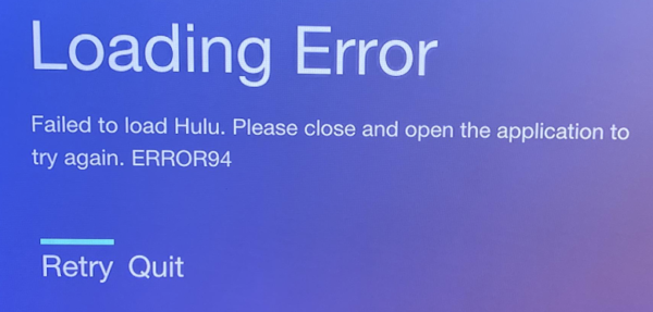 Photo of 100% Solved Hulu error 94