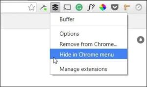 hidden extensions chrome