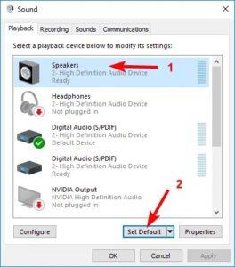 windows 10 no sound realtek