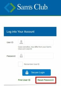 sam's club credit card login